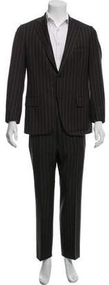 Isaia Pinstripe Wool Two-Piece Suit
