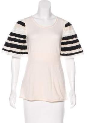 Fendi Embellished Wool Sweater