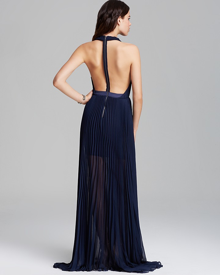 Alice + Olivia Maxi Dress - Pleated Silk