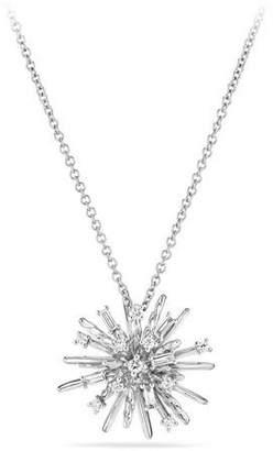 David Yurman Supernova Small Diamond Pendant Necklace in 18K White Gold