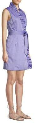 Milly Ruffle Front Wrap Dress