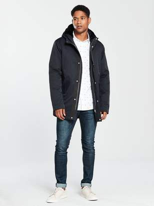 Very Parka with Faux Fur Lined Hood - Navy