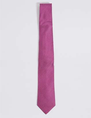 Marks and Spencer Longer Length Silk Rich Textured Tie