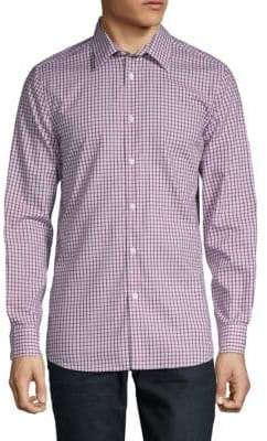 Perry Ellis Slim-Fit Cotton Check Shirt