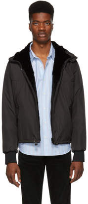 Yves Salomon Reversible Black Officer Rio Fur Jacket