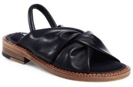 Robert Clergerie Bloss Knot Tie Leather Slingbacks $625 thestylecure.com
