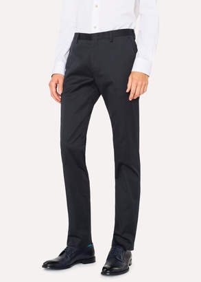 Paul Smith Men's Slim-Fit Dark Navy Stretch-Cotton Chinos
