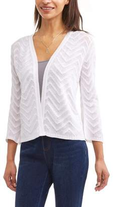 Time and Tru Women's Bell Sleeve Open Front Cardigan