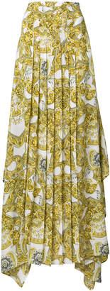 Versace baroque pleated maxi skirt