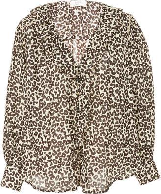 Sea Lottie Leopard-Print Cotton Blouse