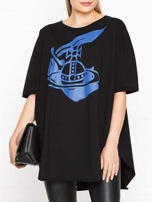 Vivienne Westwood Printed Logo Print Baggy T-Shirt - Black