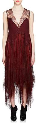 Givenchy Women's Silk & Lace Fringed Slipdress