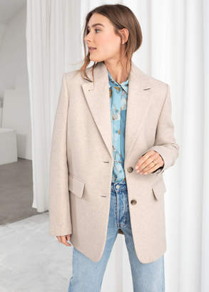 And other stories Wool Blend Oversized Blazer