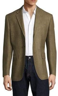 Polo Ralph Lauren Regular-Fit Harvard Wool& Silk-Blend Blazer