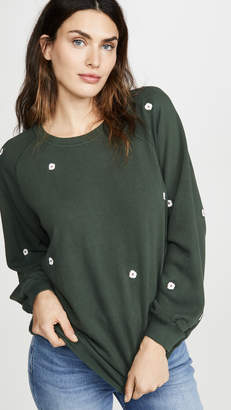 The Great Bubble Sweatshirt with Wildflower Embroidery