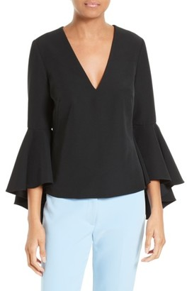 Women's Milly Nicole Bell Sleeve Italian Cady Top $325 thestylecure.com