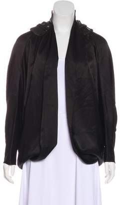 Alexander Wang Leather-Trimmed Cape