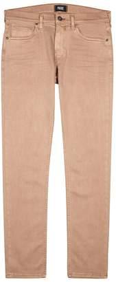 Paige Lennox Faded Pink Slim-leg Jeans