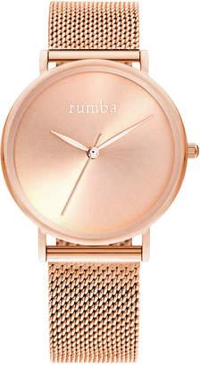 RumbaTime Lafayette Sunray Rose Gold Mesh Women's Watch