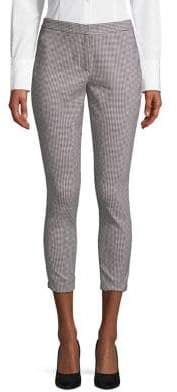 Calvin Klein Petite Houndstooth-Print Stretch Cropped Pants