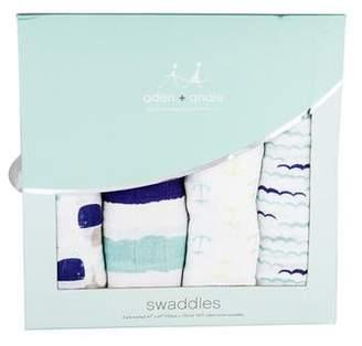 Aden Anais Aden + Anais 4-Piece Printed Baby Swaddles w/ Tags
