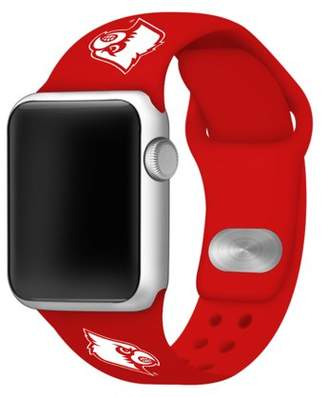 Affinity Bands Louisville Cardinals 38mm Silicone Sport Band fits Apple Watch - BAND ONLY