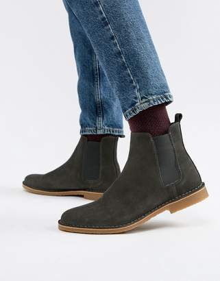 Office Iberian chelsea boots in grey suede