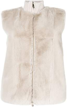 Peserico panelled fur vest