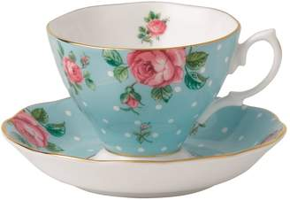 Royal Albert Polka Blue Teacup and Saucer