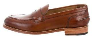 Grenson Round-Toe Penny Loafers