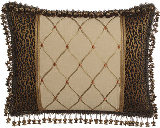 Sweet Dreams Standard Casablanca Pieced Sham with Embroidered Center