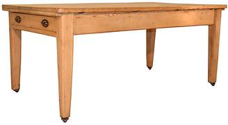 One Kings Lane Vintage 19th Century Pine Work Table - Black Sheep Antiques