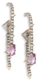 Alexis Bittar Crystal Lace Linear Ear Jacket & Drop Earrings Set $195 thestylecure.com
