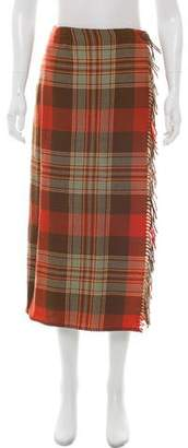 Ralph Lauren Wool Plaid Skirt