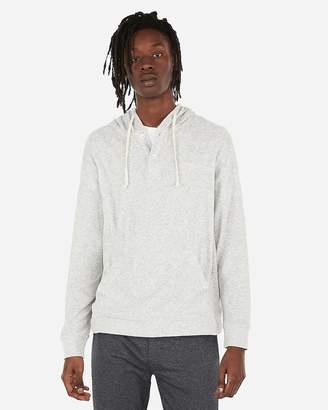 Express Terry Popover Henley Hoodie
