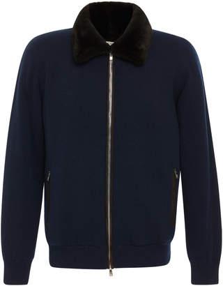 Fioroni Fur-Lined Cashmere Bomber Jacket
