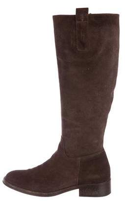 Bettye Muller Suede Knee-High Boots