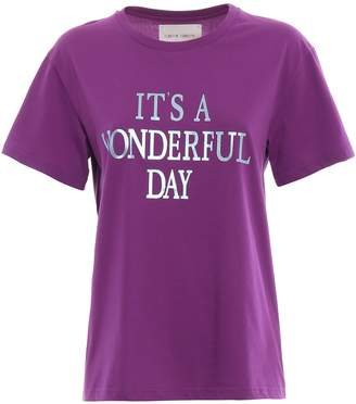 Alberta Ferretti It's A Wonderful Day Purple T-shirt
