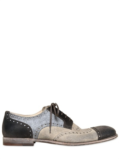 Dolce & Gabbana Milano Waxed Tricolor Derby Shoes