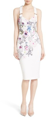 Women's Ted Baker London Scarlin Passion Flower Body-Con Dress $279 thestylecure.com