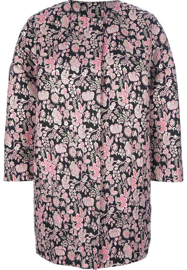 MSGM floral damask coat