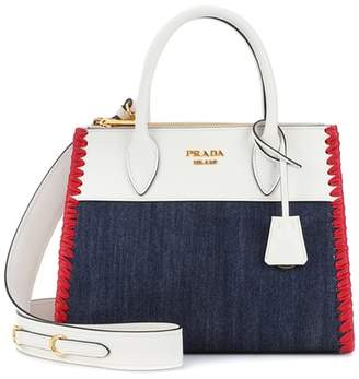 Prada (プラダ) - Prada Paradigme leather and denim handbag