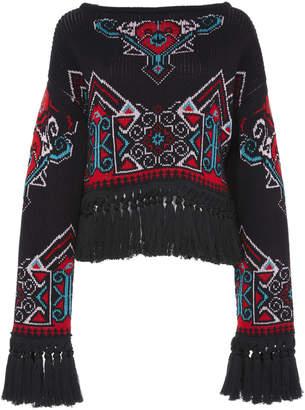 Philosophy di Lorenzo Serafini Cotton Blend Knit Pullover