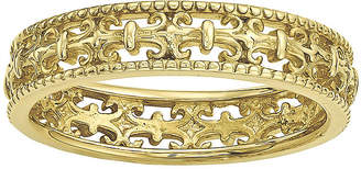 JCPenney FINE JEWELRY Personally Stackable 18K Yellow Gold Over Sterling Silver Fleur-de-Lis Ring