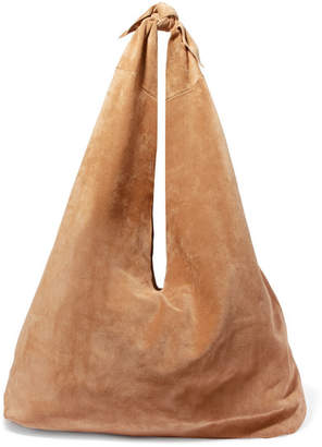 The Row Bindle Suede Shoulder Bag - Beige