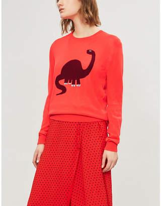 Markus Lupfer Dinosaur-motif fine-knit wool jumper