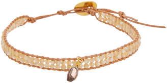 Chan Luu Silver Gemstone & Leather Bracelet