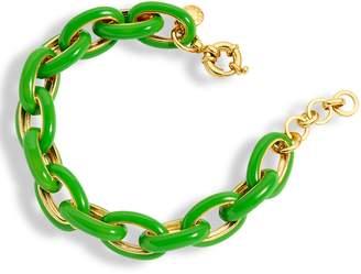 J.Crew Enamel Oval Chain Link Bracelet