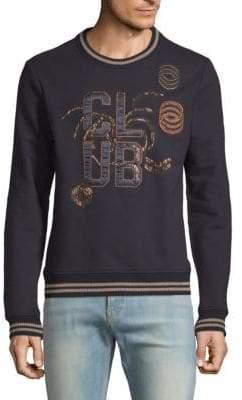 Scotch & Soda Embroidered Cotton Sweatshirt
