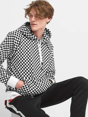GapFit | Ovadia+ Checker Print Pullover Hoodie